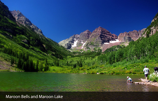 Maroon Bells &amp; Maroon Lake - Wilderness Photo