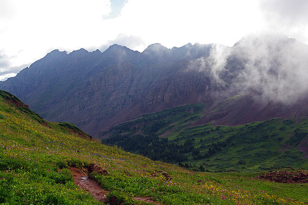 Maroon Bells Wilderness - View toward Pyramid Peak