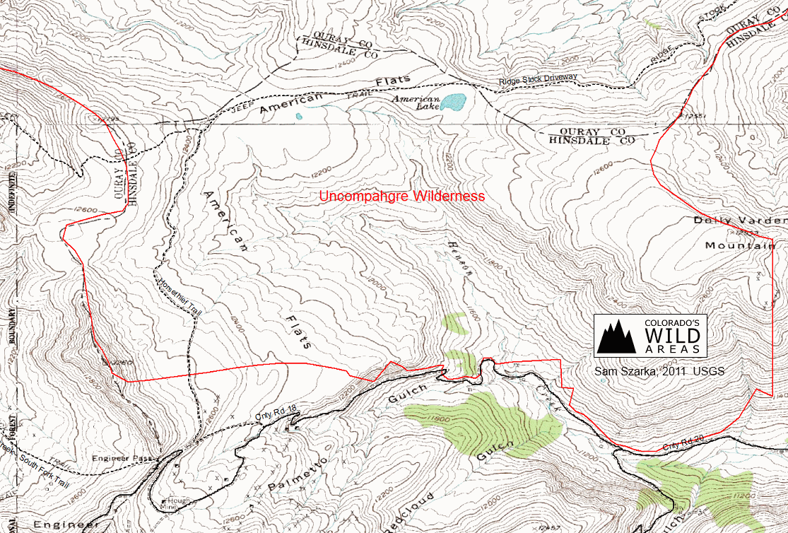 download the trail map . uncompahgre wilderness  colorado's wild areas