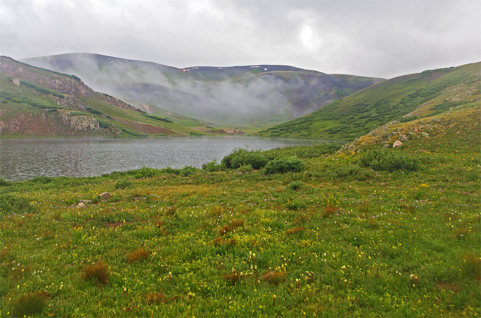Monsoon rains in July in the Weminuche Wilderness