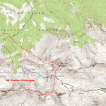 Blue Lakes trail map