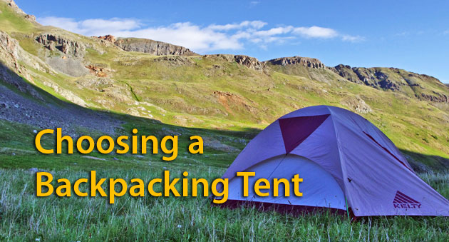 Backpacking tent with mountains in background & Choosing a Backpacking Tent | Coloradou0027s Wild Areas