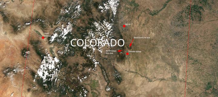 LANDSAT 8 Image of Colorado