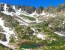 Indian Peaks Panorama Near Pawnee Pass in early July - copyright Sam Szarka