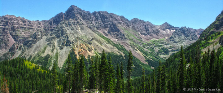 Pyramid Peak from Minnehaha Gulch, Maroon Bells Snowmass Wilderness