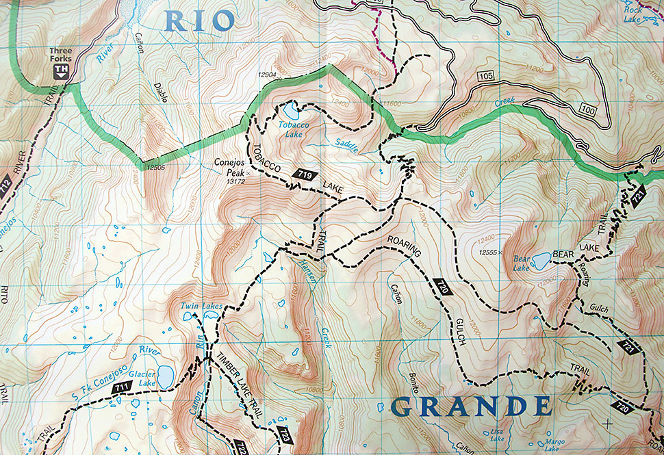 South San Juan wilderness map example