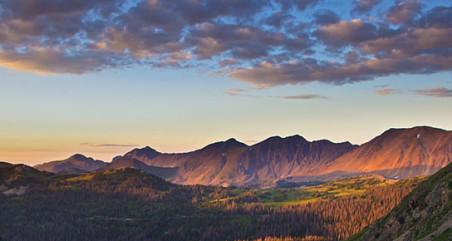 Never Summer wilderness sunset