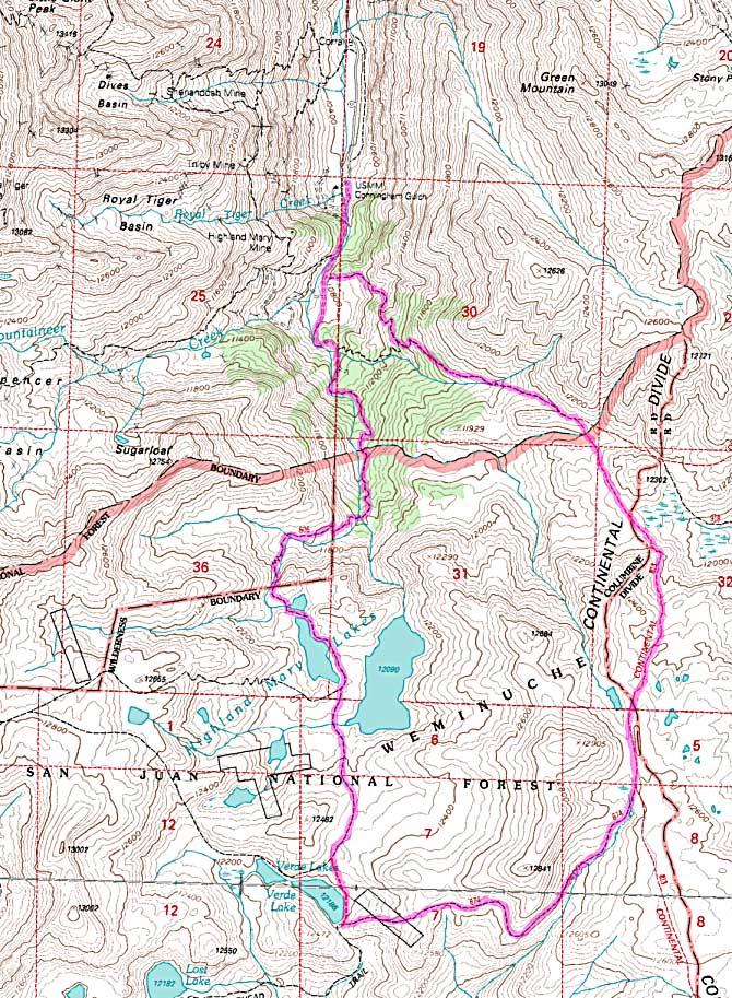 Weminuche Wilderness Map Weminuche Wilderness | Colorado's Wild Areas