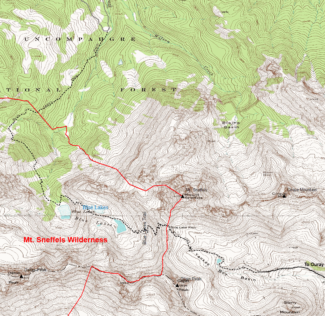 Blue Lakes Trail | Colorado\'s Wild Areas