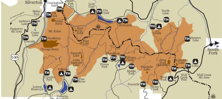 Weminuche Wilderness Map Weminuche Wilderness Map & Trip Planning Resource | Colorado's