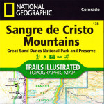 Sangre de Christo Mountains - Trails Illustrated Map