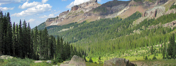 View of West Fork Valley - Uncompahgre Wilderness